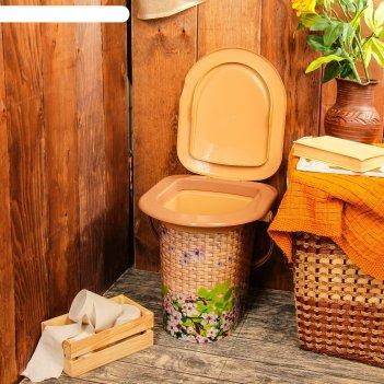 Ведро-туалет 17л. плетёнка