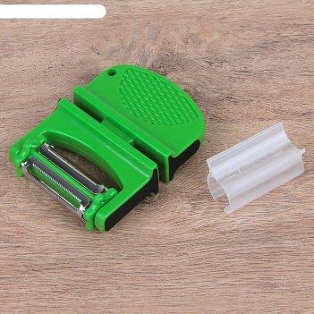 Точилка для ножей с полировкой и тройной овощечисткой мульти 10х7,5х,2,5 с