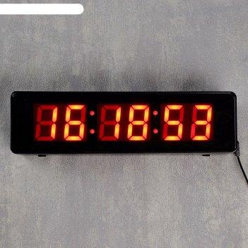 Часы настенные электронные mirror face clock: обратный отсчёт, цифры красн