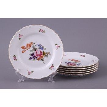 Набор тарелок из 6 шт. майсеновский букет диаметр=19 см