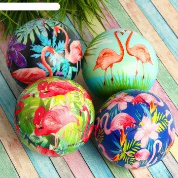Мяч мягкий фламинго 12 см , виды микс