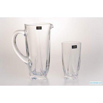 Набор для воды квадро прозрачный(кувшин+6стаканов)