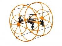 Детский квадрокоптер с защитой на радиоуправлении ufo (с защитой) (оранжев