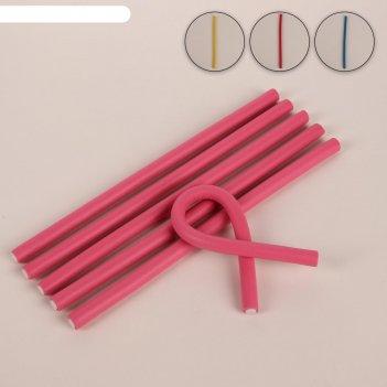 Бигуди «бумеранг» d = 1 см, 24 см, 6 шт, цвет микс