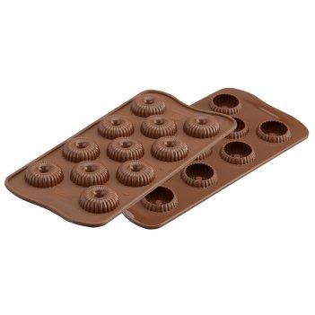 Форма для приготовления конфет choco crown 11 х 21 см силиконовая