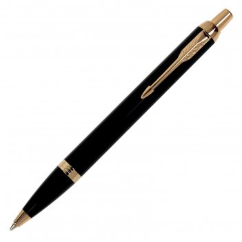 Ручка шариковая parker im core black gt m, корпус чёрный матовый/ золотой,