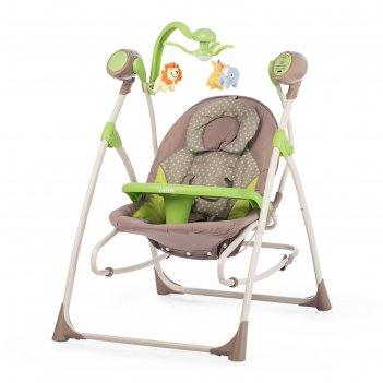 Колыбель-качели детские carrello nanny 3 в 1 crl-0005 green tree