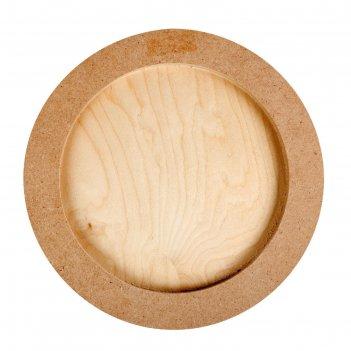 Планшет круглый деревянный фанера 2см d-35 см calligrata