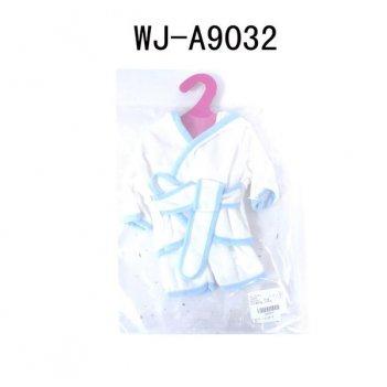 Одежда для кукол: банный халатик (белый цвет), 25x2x38см