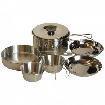 Набор посуды из нерж.стали:котел 1,7л., сковор.15см, 2 тарел.14 см