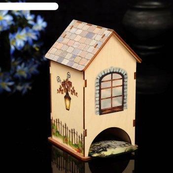 Чайный домик домик с уф-печатью, 8,5х9,5х16см