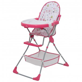 Стульчик для кормления polini kids 252 «лесные друзья», цвет розовый