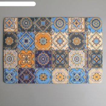 Коврик для ванны 40х60 см богемия мозаика