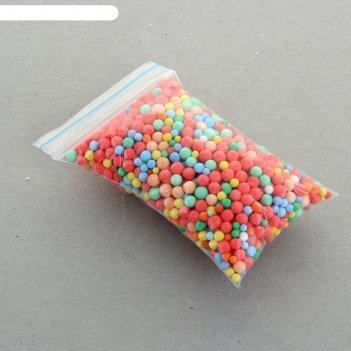 Наполнитель декоративный, волшебные шарики разноцветные, 1-3мм, 3гр