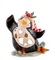 Bs-504 подсвечник пингвин в танце на льду (pavone)