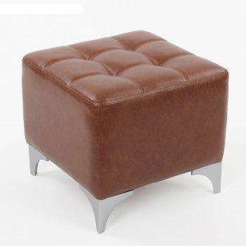 Банкетка жозефина 480*480*415 кож.зам коричневый