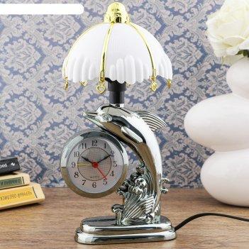 Часы-светильник флиппер, с будильником, 27х12 см