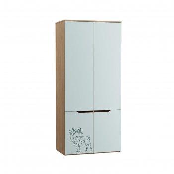 Шкаф для одежды гудвин 13.132, 900х543х2004, гикори рокфорд/мята