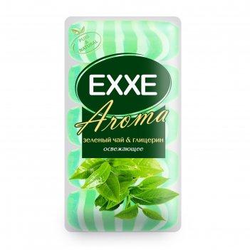 Крем+мыло exxe aroma глицериновое зеленый чай   глицерин зеленое полосатое