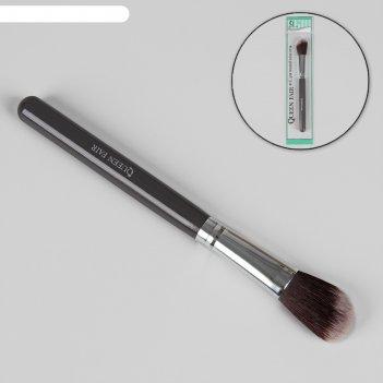 Кисть для макияжа, скошенная, цвет серый