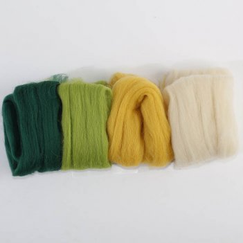Набор шерсти для валяния одуванчик