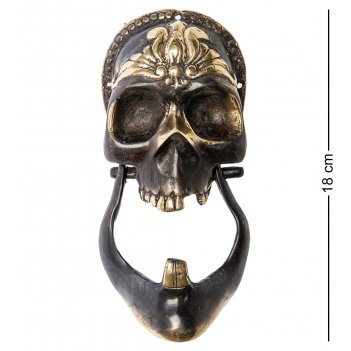 24-133 дверной молоток череп бронза (о.бали)