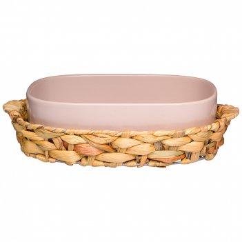 Блюдо для запекания в плетеной корзине bronco fusion 29,5*20*8 см 1200 мл