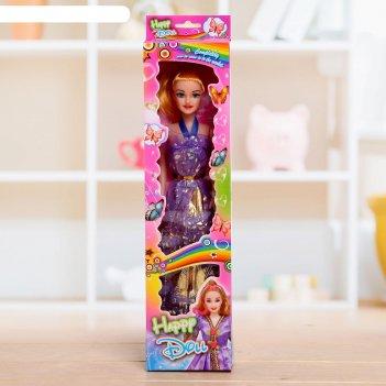 Кукла модель «оля» в платье, микс