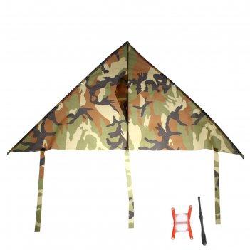 Воздушный змей камуфляж с леской