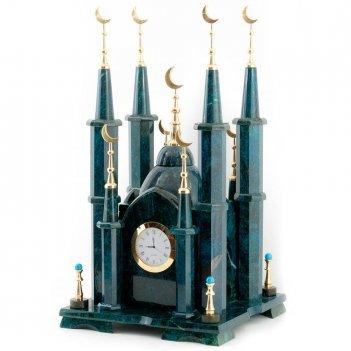 Часы мечеть малая камень змеевик
