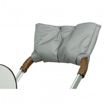Муфта для рук на коляску флисовая (на липучке), цвет серый мкф03-001