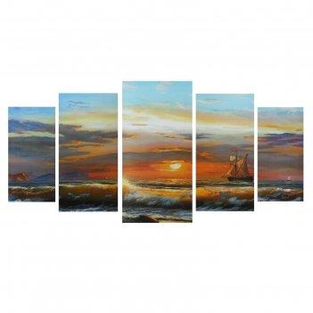 Модульная картина на подрамнике морской пейзаж, 2 — 40x80, 2 — 50x100, 1 —