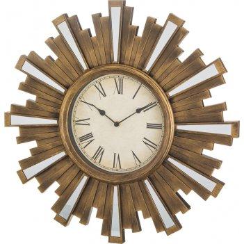 Часы настенные кварцевые swiss home цвет: бронза 50*50*4 см. диаметр цифер