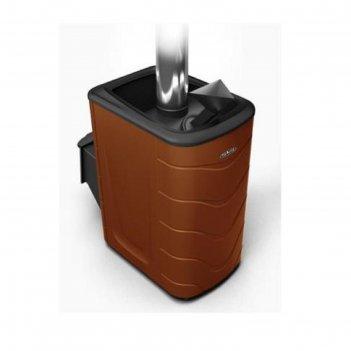 Печь для бани термофор гейзер 2014 carbon, дверца антрацит, закрытая камен