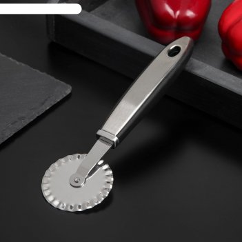 Нож для пиццы и теста ребристый blade ручка soft touch 20 см цвета микс