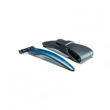 Подарочный набор bolin webb r1, бритва r1-s синяя, дорожный чехол