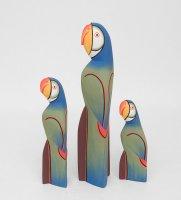 90-057 статуэтка синий попугай набор из трех 40/30/20 см