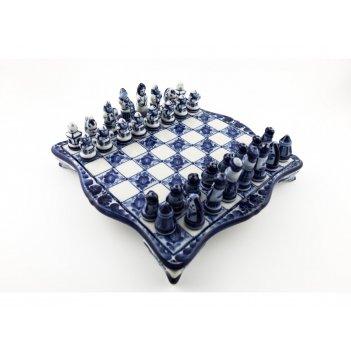 Шахматы сувенирные авт. гаранин ю.н. гжель 39х35см