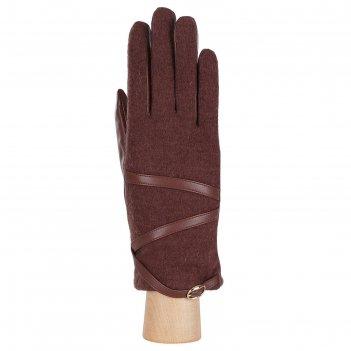 Перчатки женские натуральная кожа/шерсть (размер 7) коричневый