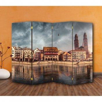Ширма набережная, двухстороняя, 200 x 160 см