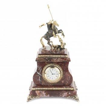 Настольные часы георгий победоносец камень креноид