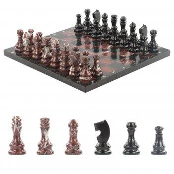 Шахматы яшма долерит 395х395 мм