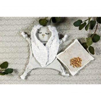 Комфортер - грелка cherry love, размер 25 x 30 см, цвет серый