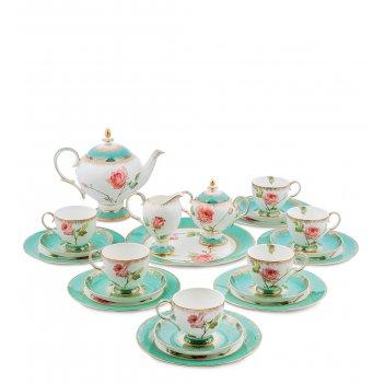 Jk- 69 чайный сервиз на 6 перс. роза (milano rose pavone)