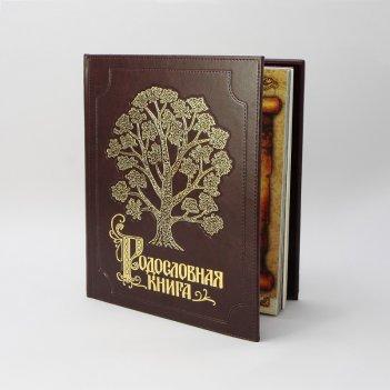 Альбом родословная книга  изысканная   обложка из экокожи с золочением