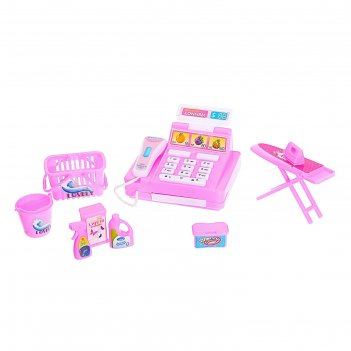 Игровой набор касса «мини», с аксессуарами, цвета микс