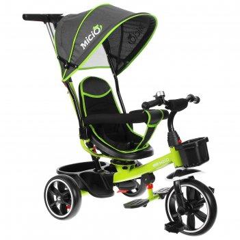 Велосипед трехколесный micio veloce, колеса eva 10/8, цвет салатовый