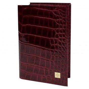 Обложка для паспорта, вишнёвый крокодил