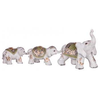 Набор фигурок-слонов белых из 3 шт. сострадание к...