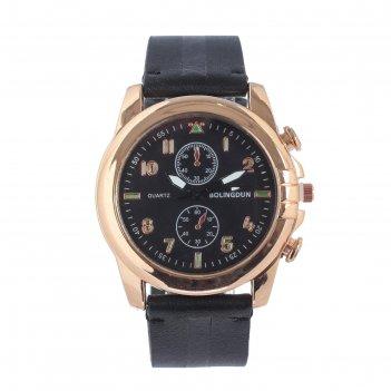 Часы наручные мужские bolingdun 5324, d=4.5 см, экокожа, микс